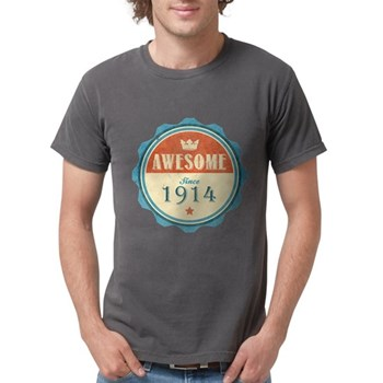 Awesome Since 1914 Mens Comfort Colors Shirt