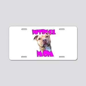 Pitbull Mom Aluminum License Plate