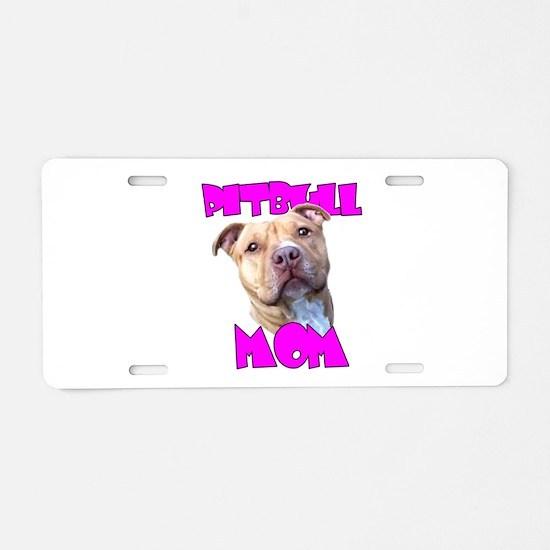 Pitbull Mom Aluminum License Plate