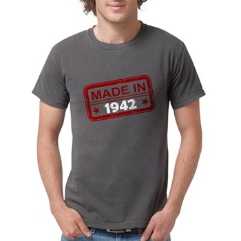 Stamped Made In 1942 Mens Comfort Colors Shirt