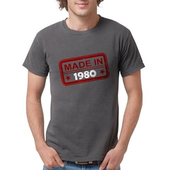 Stamped Made In 1980 Mens Comfort Colors Shirt