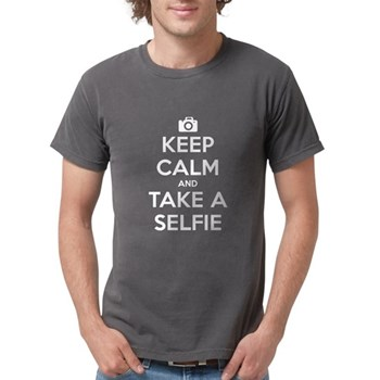 Keep Calm and Take a Selfie Mens Comfort Colors Sh