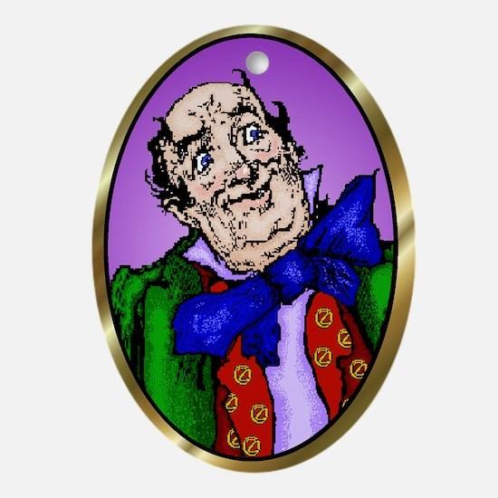 Wizard of Oz Purple Oval Ornament
