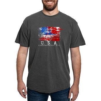 Grunge USA Flag Mens Comfort Colors Shirt