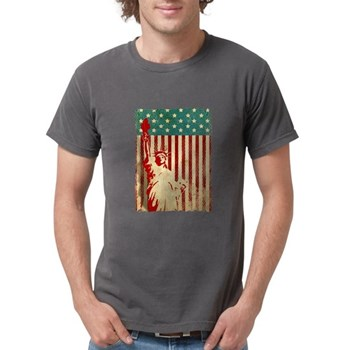 Vintage Style American Flag Mens Comfort Colors Sh