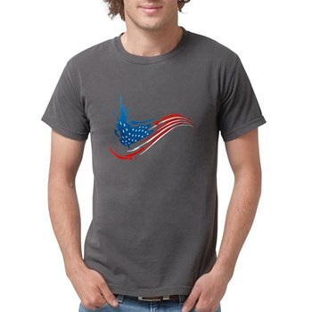 Abstract Paint American Flag Mens Comfort Colors S