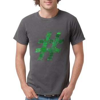 Green Hashtag Cloud Mens Comfort Colors Shirt