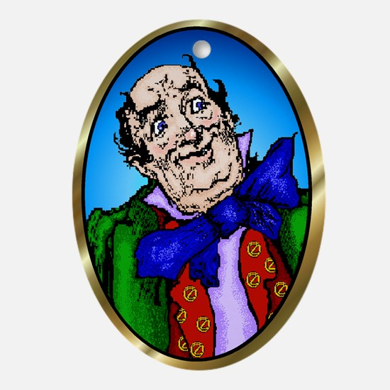 Wizard of Oz Blue Oval Ornament