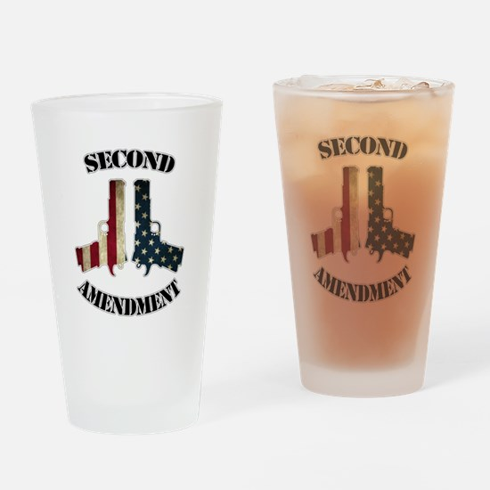 Second Amendment Drinking Glass