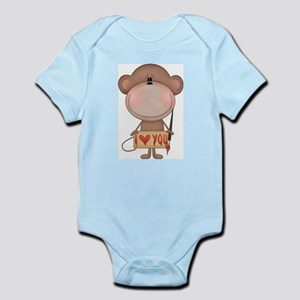 I love you- monkey Body Suit