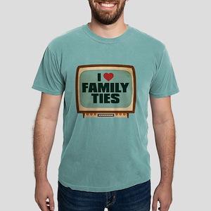 Retro I Heart Family Ties Mens Comfort Colors Shir