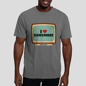 Retro I Heart Gunsmoke Mens Comfort Colors Shirt