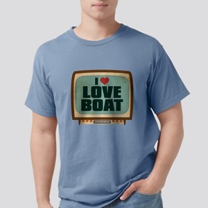Retro I Heart Love Boat Mens Comfort Colors Shirt
