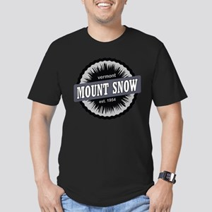 Ski Resort Vermont Black Men's Fitted T-Shirt (dar