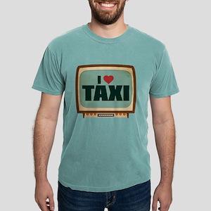 Retro I Heart Taxi Mens Comfort Colors Shirt