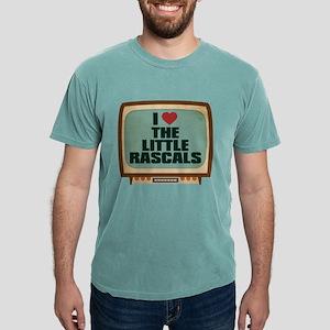 Retro I Heart The Little Rasc Mens Comfort Colors