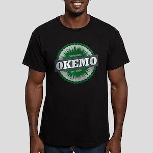 Ski Resort Vermont Dark Green Men's Fitted T-Shirt