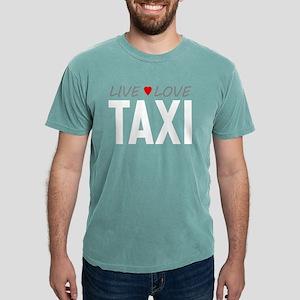 Live Love Taxi Mens Comfort Colors Shirt