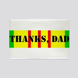My Dad is a Vietnam Vet; Thanks Dad Rectangle Magn
