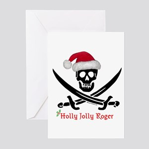Holly Jolly Roger (S) Greeting Cards (Pk of 10