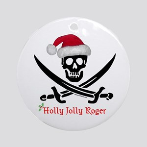 Holly Jolly Roger (S) Ornament (Round)