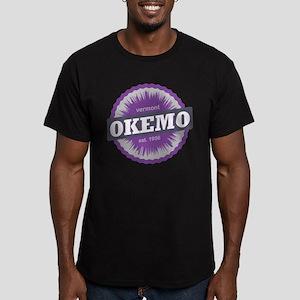Ski Resort Vermont Purple Men's Fitted T-Shirt (da