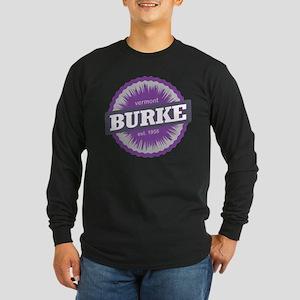 Ski Resort Vermont Purple Long Sleeve Dark T-Shirt