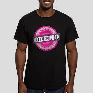 Ski Resort Vermont Pink Men's Fitted T-Shirt (dark
