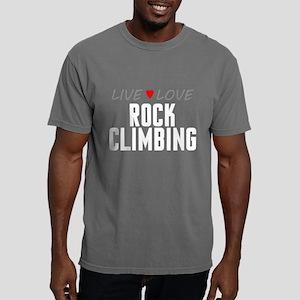 Live Love Rock Climbing Mens Comfort Colors Shirt