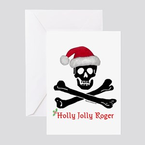 Holly Jolly Roger (C) Greeting Cards (Pk of 10
