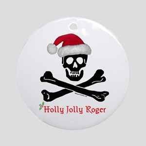 Holly Jolly Roger (C) Ornament (Round)