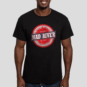 Ski Resort Vermont Red Men's Fitted T-Shirt (dark)
