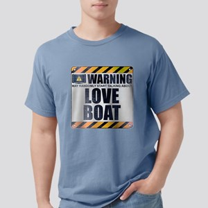 Warning: Love Boat Mens Comfort Colors Shirt