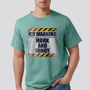 Warning: Mork and Mindy Mens Comfort Colors Shirt