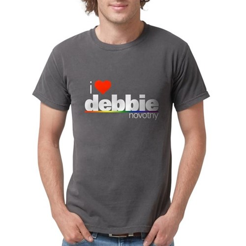 I Heart Debbie Novotny Mens Comfort Colors Shirt