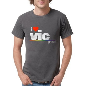 I Heart Vic Grassi Mens Comfort Colors Shirt