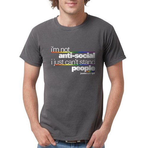I'm Not Anti-Social Mens Comfort Colors Shirt