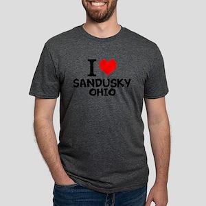 I Love Sandusky, Ohio Mens Tri-blend T-Shirt