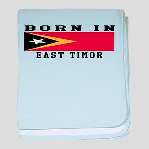 Born In East Timor baby blanket