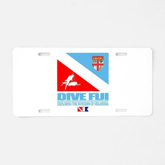 Dive Fiji Aluminum License Plate