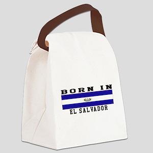 Born In El Salvador Canvas Lunch Bag