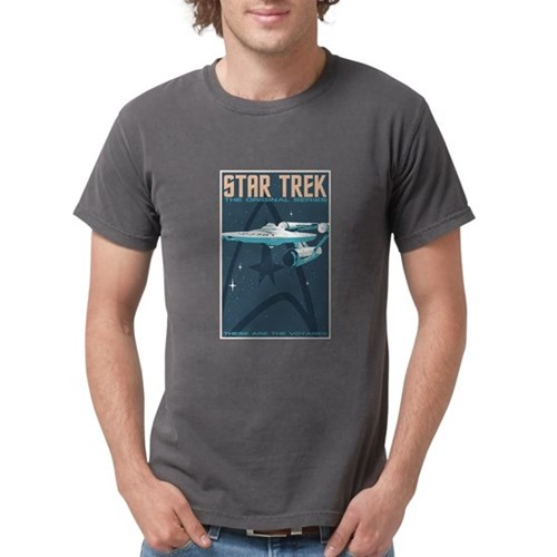 Retro Star Trek TOS Mens Comfort Colors Shirt
