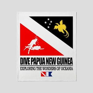 Dive Papua New Guinea Throw Blanket