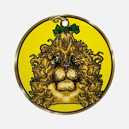 The Cowardly Lion Yellow Round Ornament
