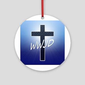 WWJD Ornament (Round)