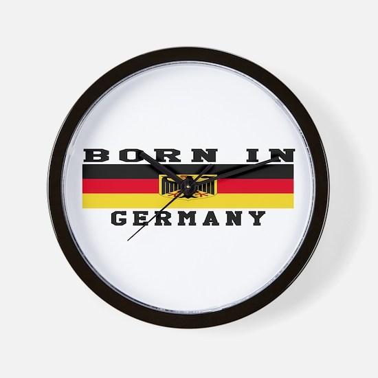Born In Germany Wall Clock