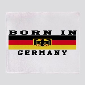 Born In Germany Throw Blanket