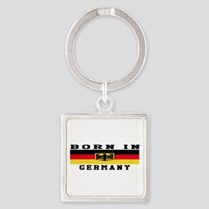 Born In Germany Square Keychain