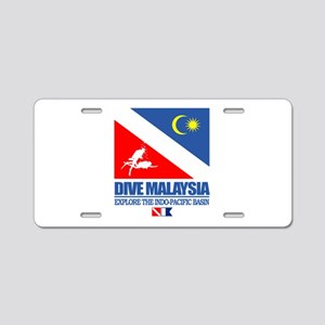 Dive Malaysia Aluminum License Plate