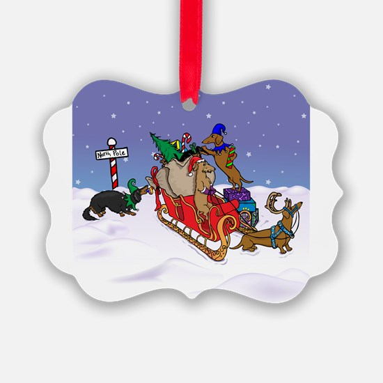 Cute Sleigh Ornament